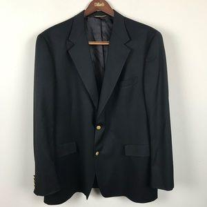 Hart Schaffner Marx Men's Black 2 Gold Button Suit